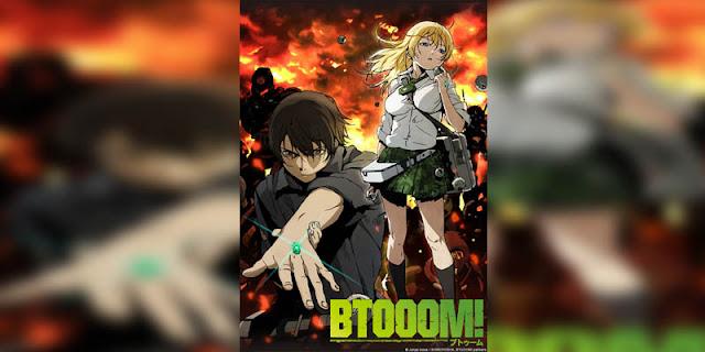 Rekomendasi Anime Game, Tentang Masuk Dunia Game btooom terbaik