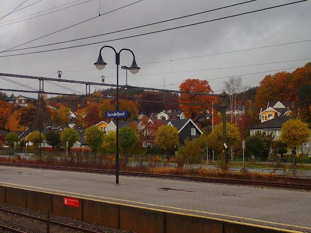 Stacja kolejowa w Sandefjord