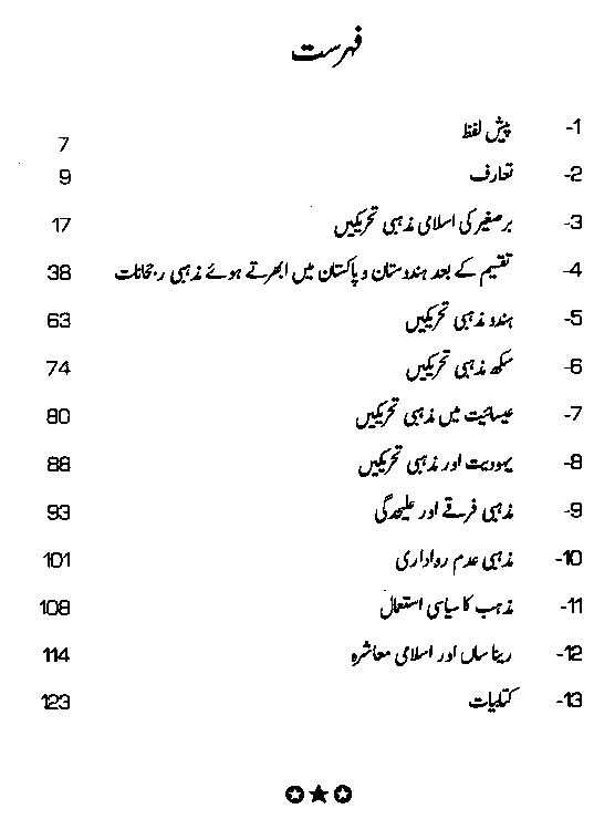 history and religions Urdu