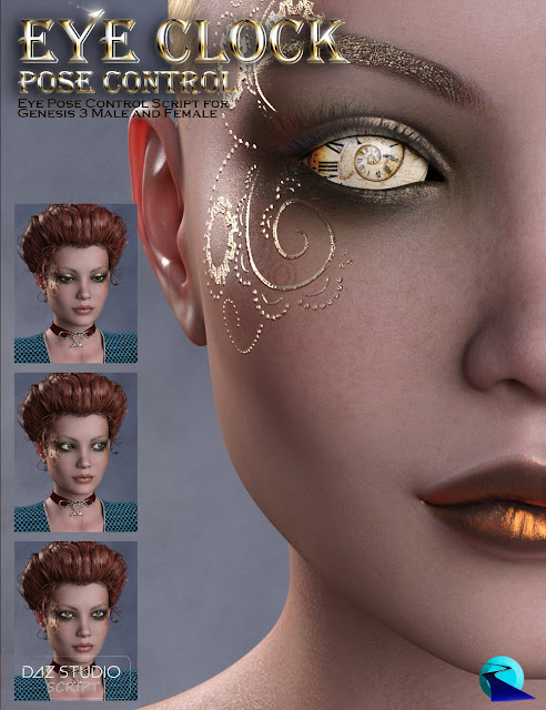 Eye Clock Pose Control for Genesis 3 Male and Female