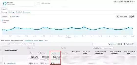 traffic organic google analytic