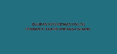 Rujukan Peperiksaan Online Pembantu Tadbir Undang-Undang L19