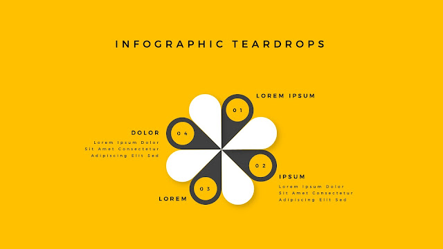 Infographic Teardrop elements for PowerPoint Slide 7
