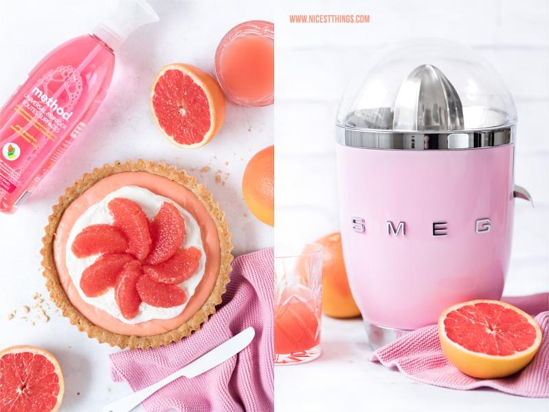 Pink Grapefruit Tarte und SMEG Zitruspresse