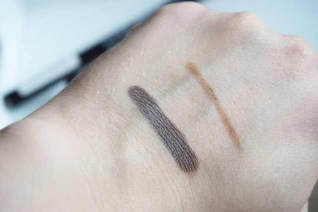 L.O.V Cosmetic THEGlacious Stylo Eyeshadow in 920 Lavender Aura, BROWttitude Eyebrow Designer in 210 Honey Swatch