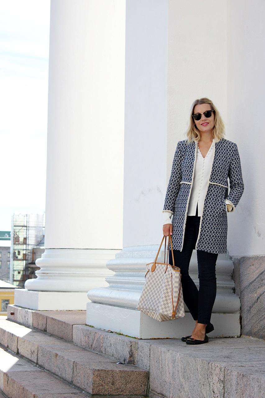 Zara blue coat Zara takki