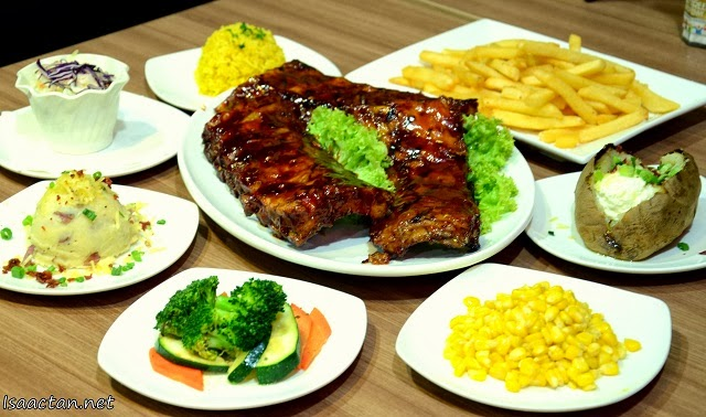 Choose two side dishes for your baby back ribs
