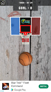 Game olahraga basket dengan teknologi Augmented Reality
