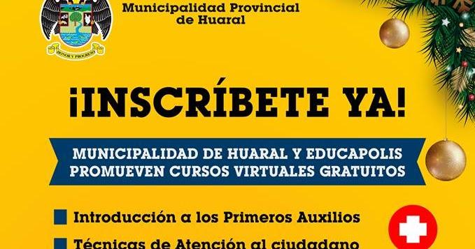 Contacto informativo huaral per inscr bete ya for Municipalidad de avellaneda cursos