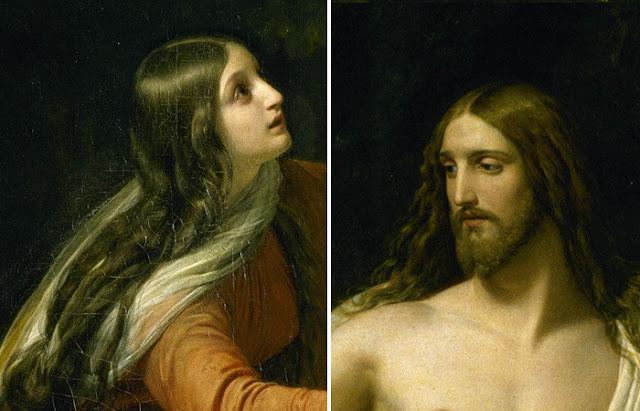 """""""Aparição de Jesus Cristo a Maria Madalena"""" Alexander Ivanov, fragmentos"""