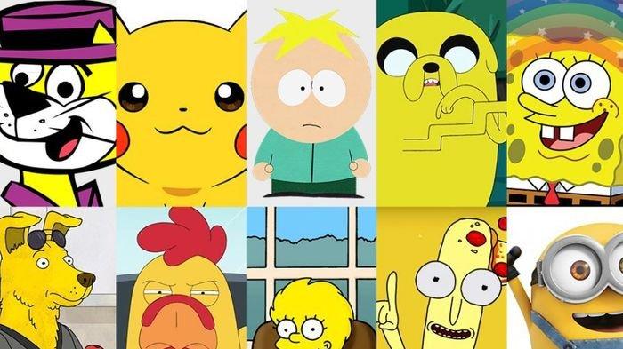 Kenapa Tokoh Kartun Banyak yang Berwarna Kuning?