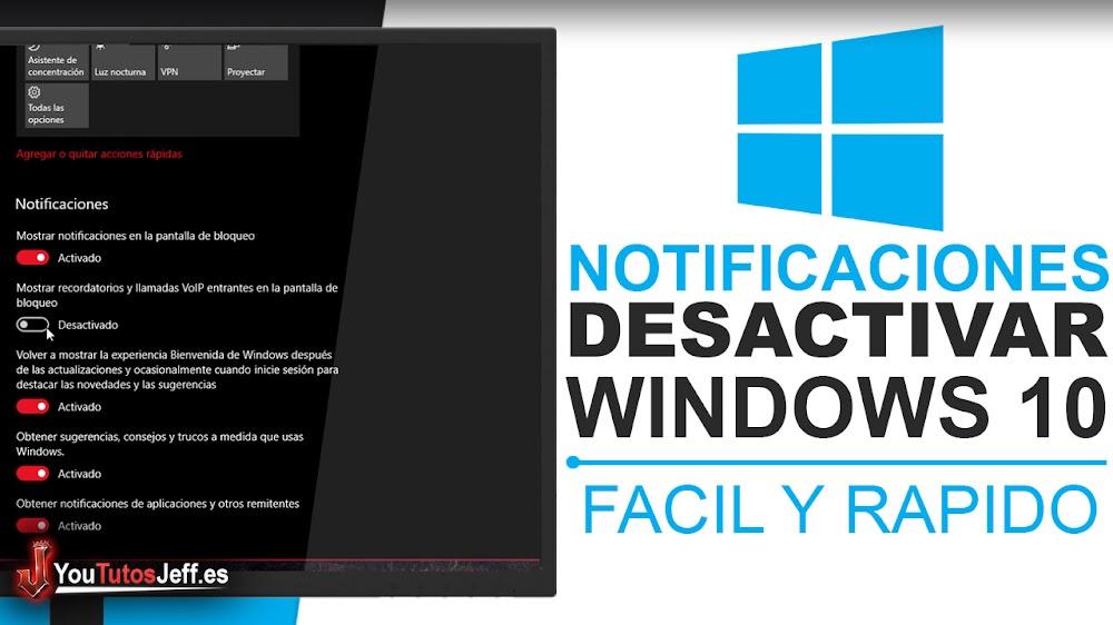 Como Desactivar Notificaciones de Windows 10 - Trucos Window 10