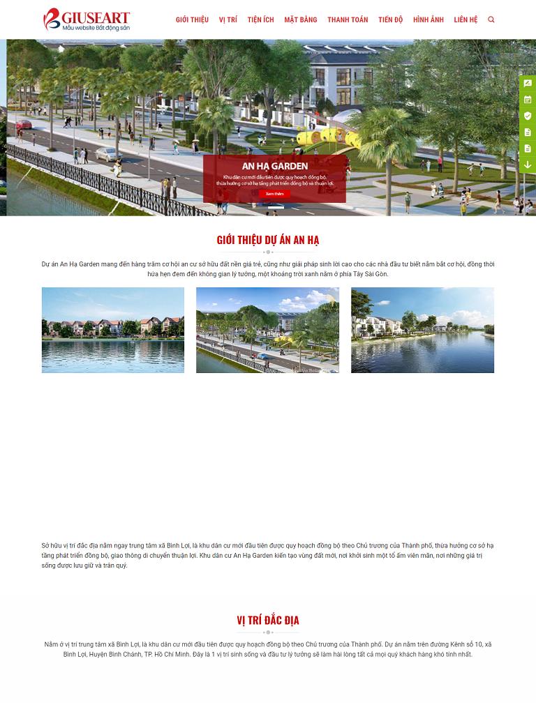 NBW163 – Mẫu website Landing Page giới thiệu dự án bất động sản - Ảnh 1