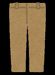 パンツのイラスト(茶色)