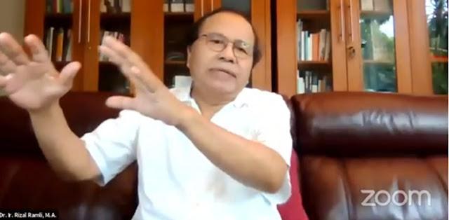 Rizal Ramli Sudah Ingatkan Dari Awal: Fokus Tangani Pandemi, Bukan Sibuk Proyek!