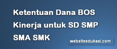 Ketentuan Dana BOS Kinerja untuk SD SMP SMA SMK