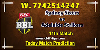 SYS vs ADS 11th Match Who will win Today BBL T20? Cricfrog