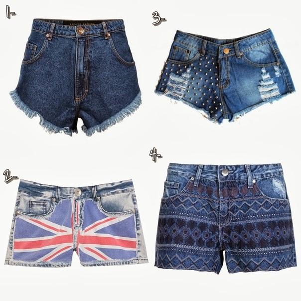 Onde comprar short jeans pela internet?