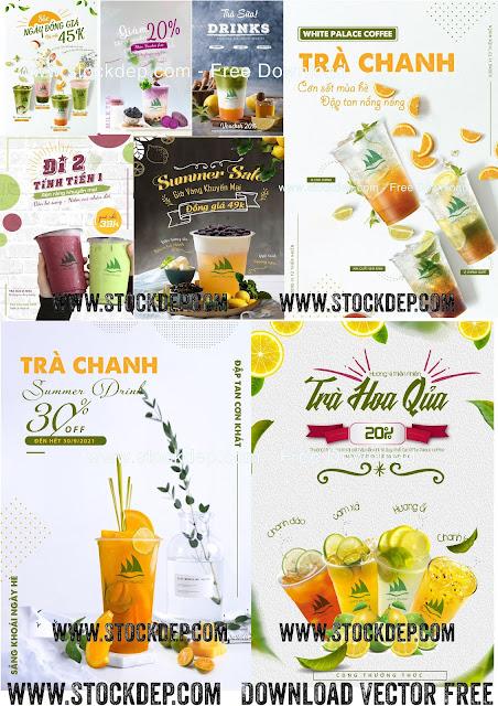 Download Vector Menu Ly Trà Chanh, Trà Sữa, Trà Trái Cây….