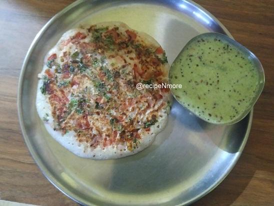 उत्तपा (उत्तपम)   Uttapa (Uttapam) recipe in marathi