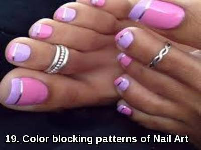 Color blocking patterns of Nail Art