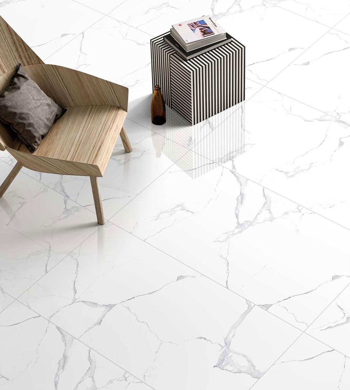 white porcelain tile 24x24