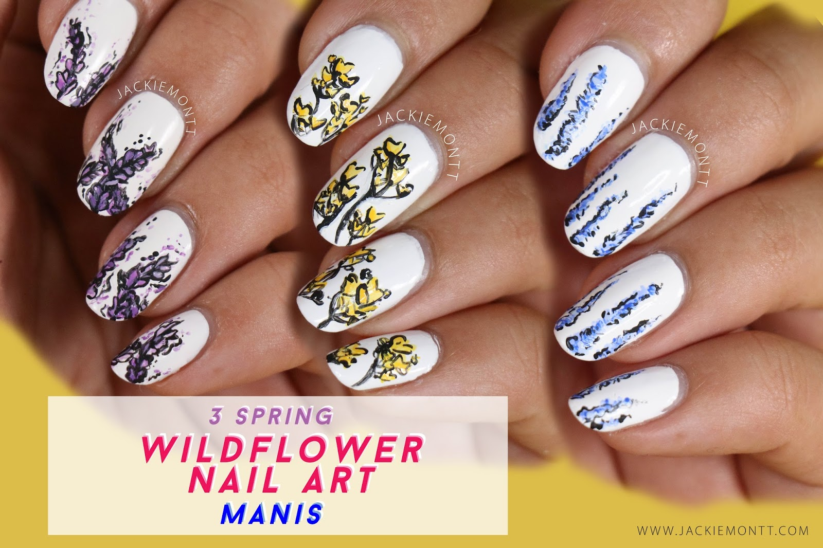 3 Floral Nail Art Designs For Spring Jackiemontt