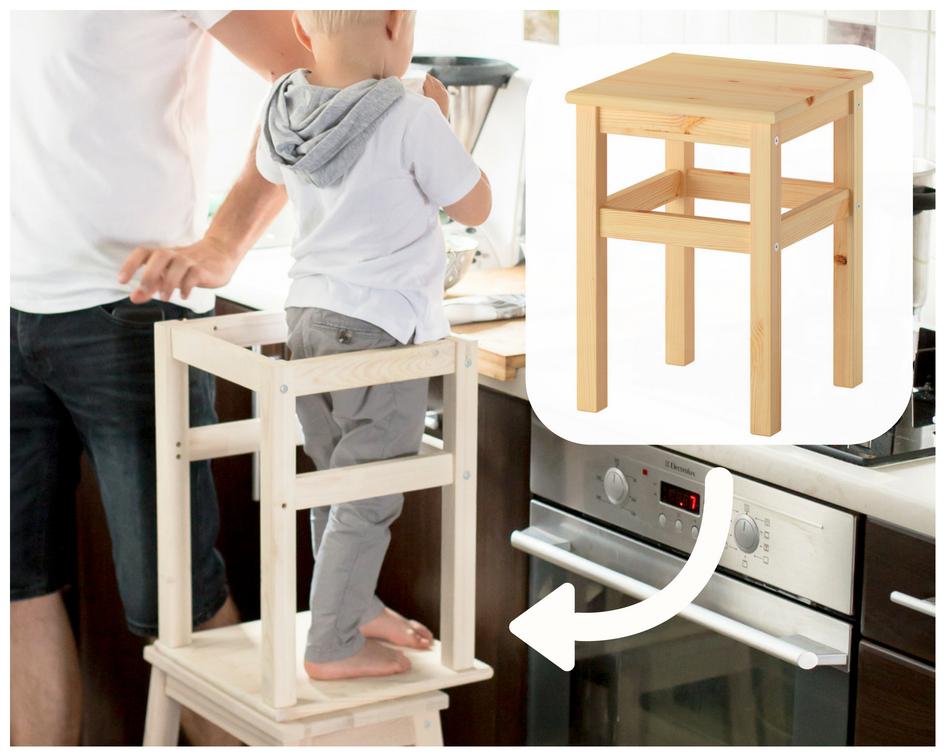 Mały Pomocnik W Kuchni Learning Tower Podest Dla Dziecka Diy