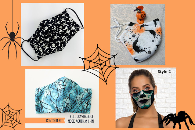 A selection of Halloween face masks. An artisan Halloween guide.