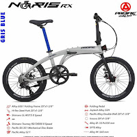 Sepeda Lipat Pacific Alloy Noris RX Folding Bike