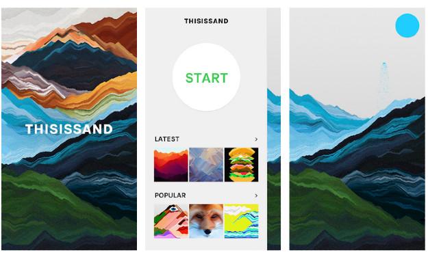 This is sand - Εντυπωσιακή ιστοσελίδα και εφαρμογή για ζωγραφική με... άμμο