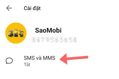 cài đặt SMS signal