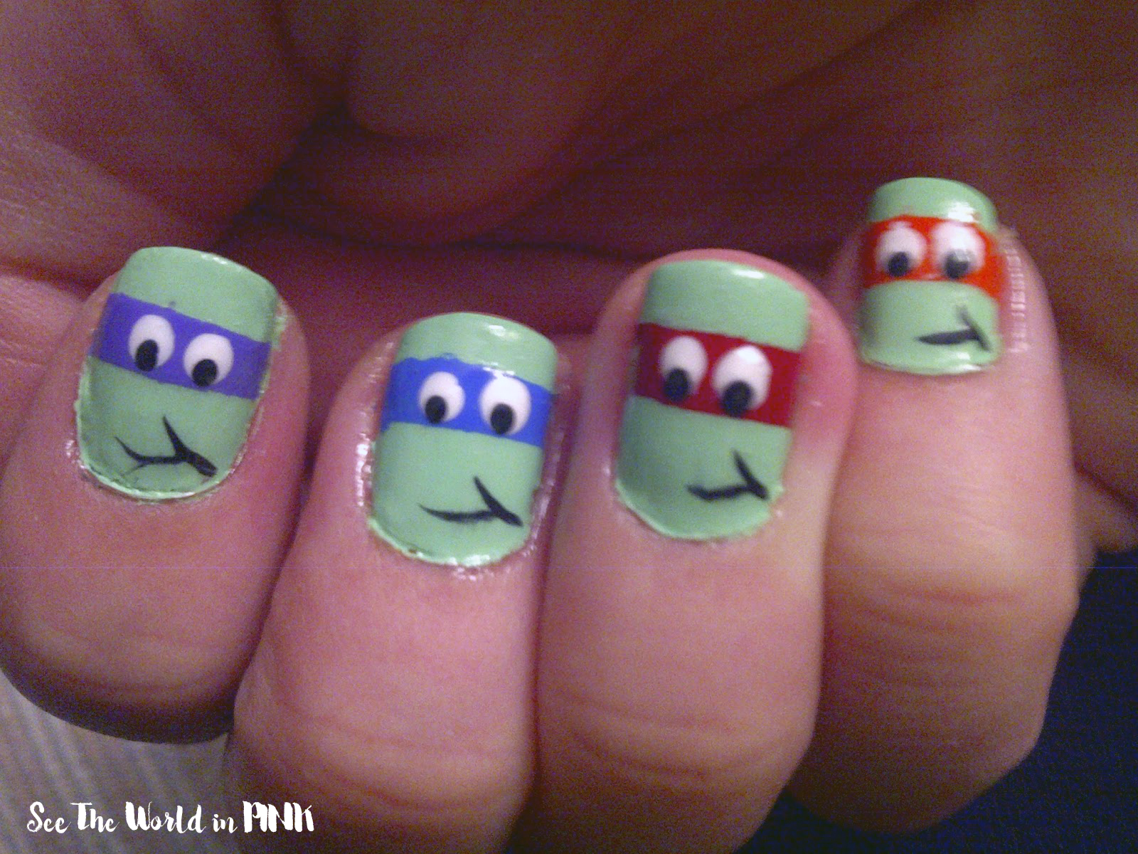 Manicure Monday - Past Favourite Nail Art (Ninja Turtle and Grumpy ...