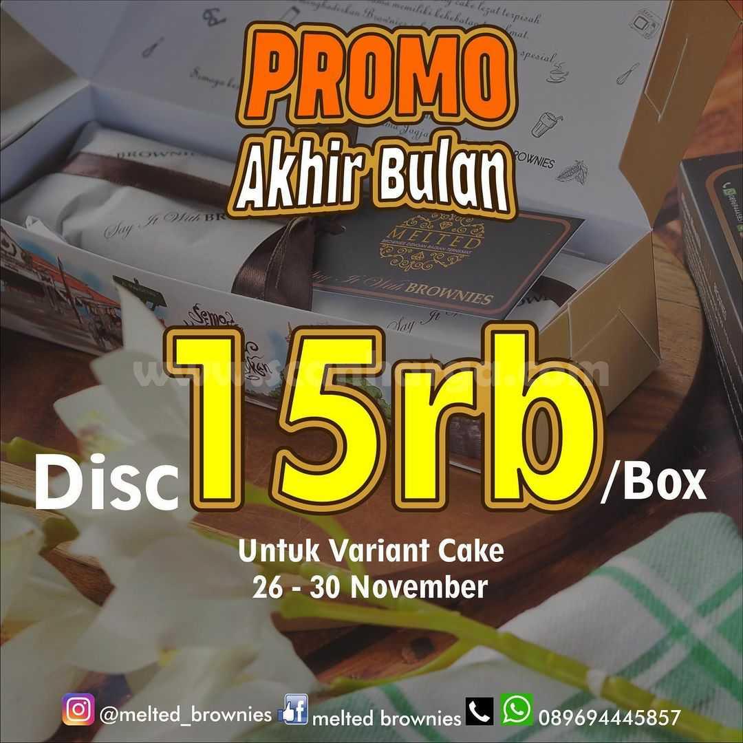 Melted Brownies Diskon 15rb / box untuk Variant Cake Edisi Promo Akhir Bulan