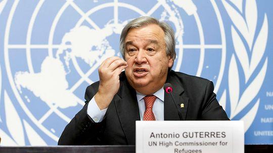 El secretario general designado Antonio Guterres