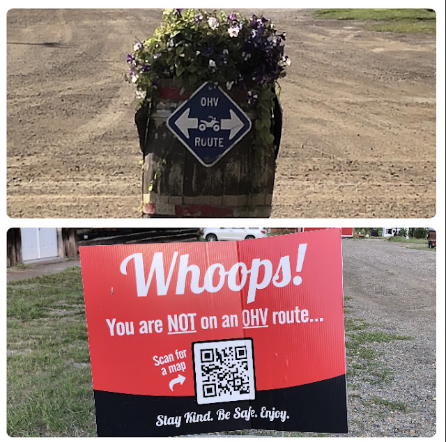 signs for OHV lanes on town streets