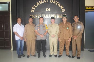 Kakankemenag Tanjungbalai Audiensi Dengan Kapolres