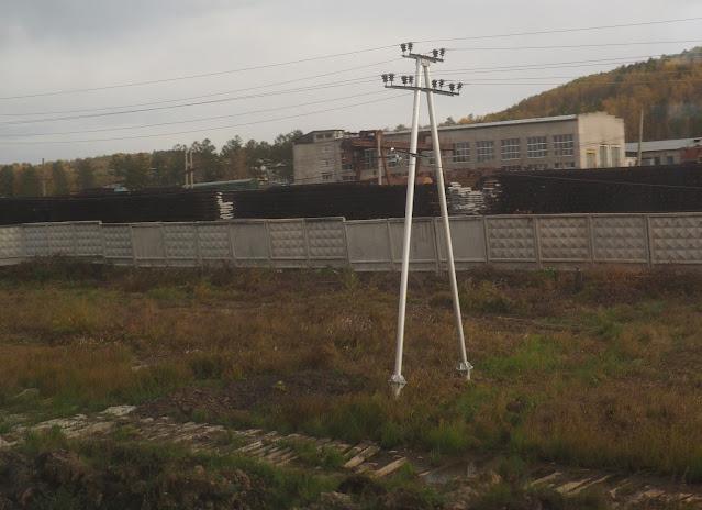 Транссибирская магистраль, Амурская область - столбы