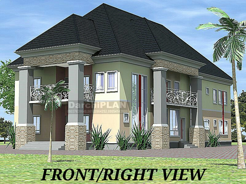 Nigeria building style architectural designs by darchiplan for Modern duplex house plans in nigeria