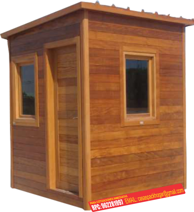 Casetas prefabricadas para seguridad y vigilancia packhogar for Casas y casetas prefabricadas