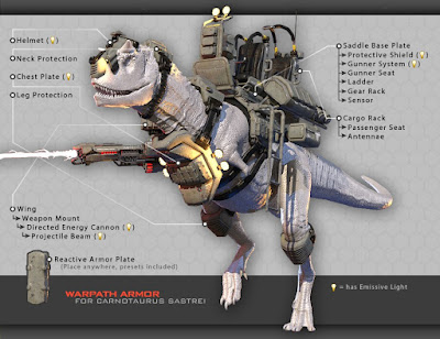 Carnotaurus Warpath Armor