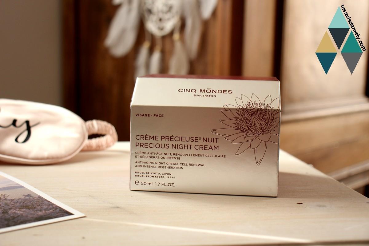 revue beauté crème nuit régénérante précieuse anti age cinq mondes