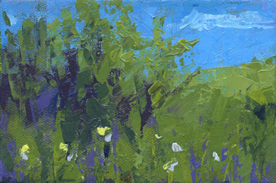 spring art painting landscape abstract knife