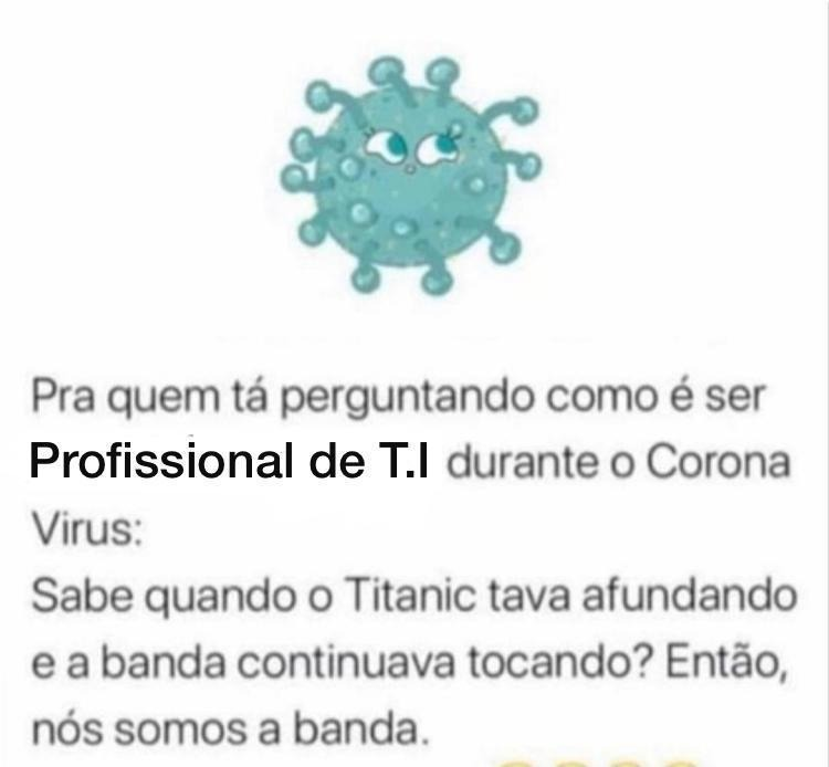 profissional de ti durante corona virus