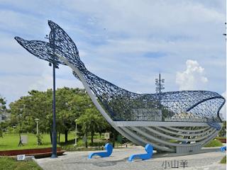 台南鯨魚裝置藝術