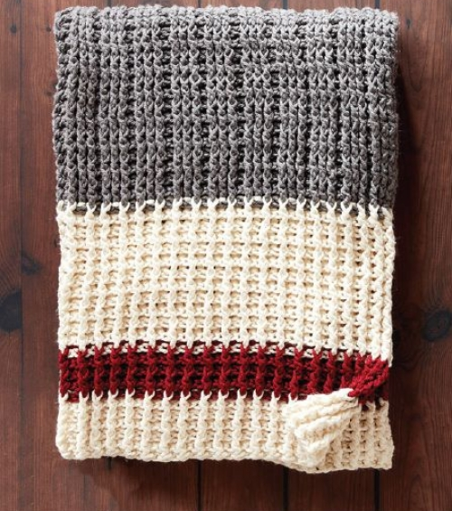 Lumberjack Crochet Throw - Free Pattern