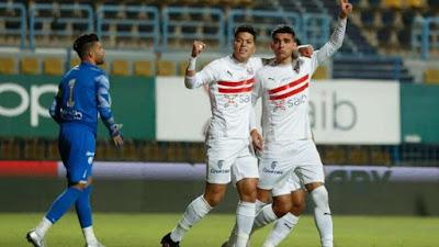 ملخص واهداف مباراة الزمالك ومصر المقاصة (4-1) الدوري المصري