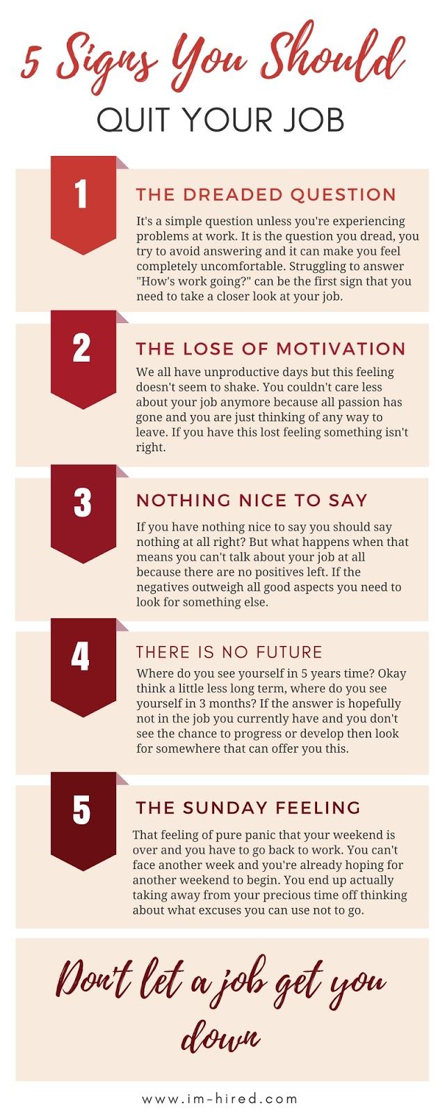 5 Signs You Should Quit (The Infographic)