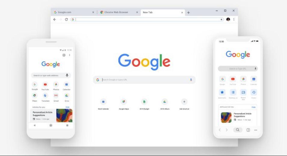 متصفح جوجل كروم مضغوط