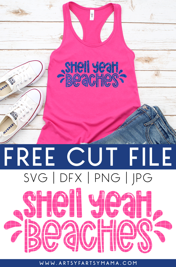 "Free ""Shell Yeah Beaches"" SVG"